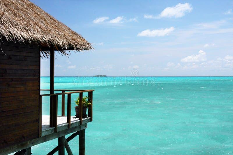 Balcone, maldives immagini stock libere da diritti