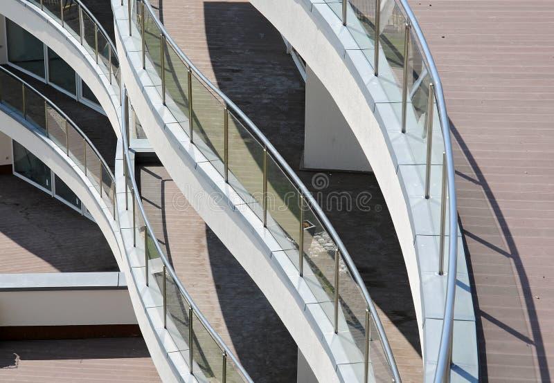 Balcone moderno dell'appartamento fotografia stock