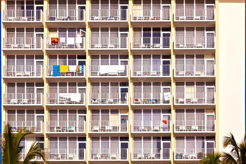 Balcones de scyscrapers imagen de archivo