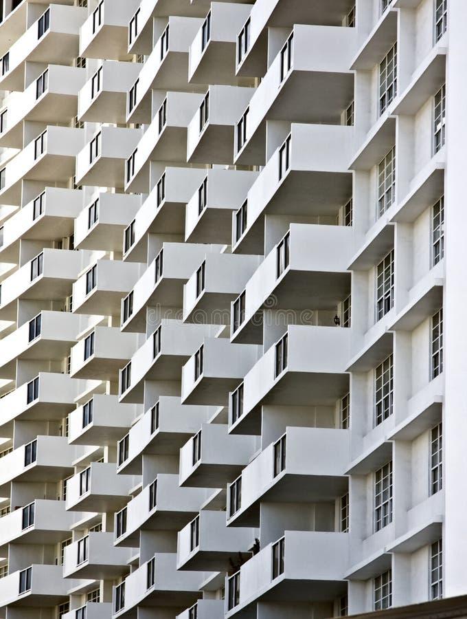 Balcones del edificio imágenes de archivo libres de regalías