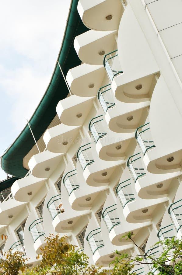 Balcones del hotel imágenes de archivo libres de regalías