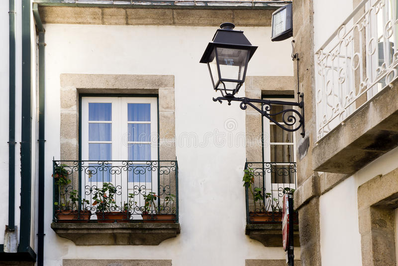 Balcones Lamego Portugal imágenes de archivo libres de regalías