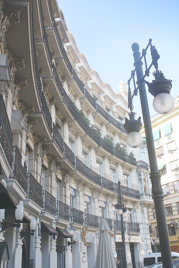 Balconi curvi decorati fotografia stock libera da diritti