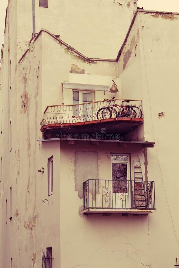 Balconi d'annata fotografia stock libera da diritti