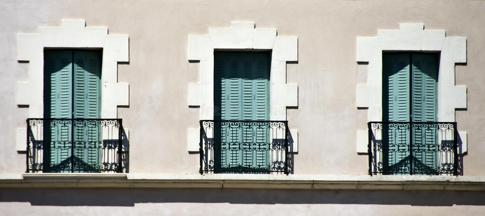 Balconies And Balustrades Royalty Free Stock Photo
