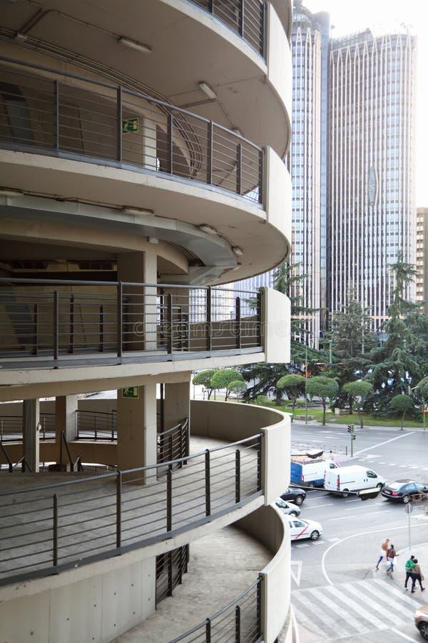 Balconies of Santiago Bernabeu Stadium royalty free stock images