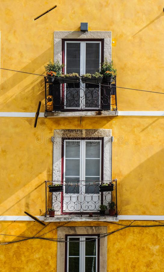 Balconies On Yellow Building Free Public Domain Cc0 Image