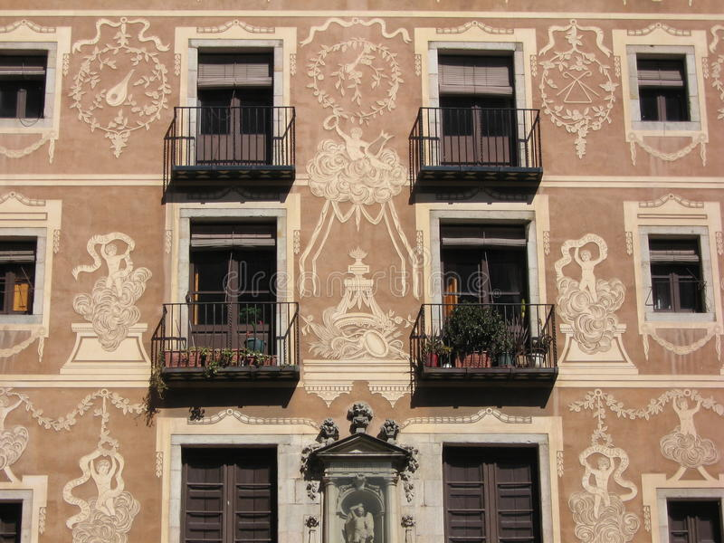 balcons Barcelone images libres de droits