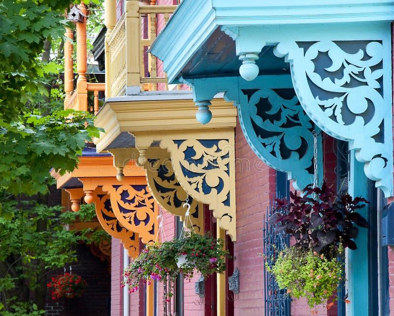 Balcons colorés images libres de droits