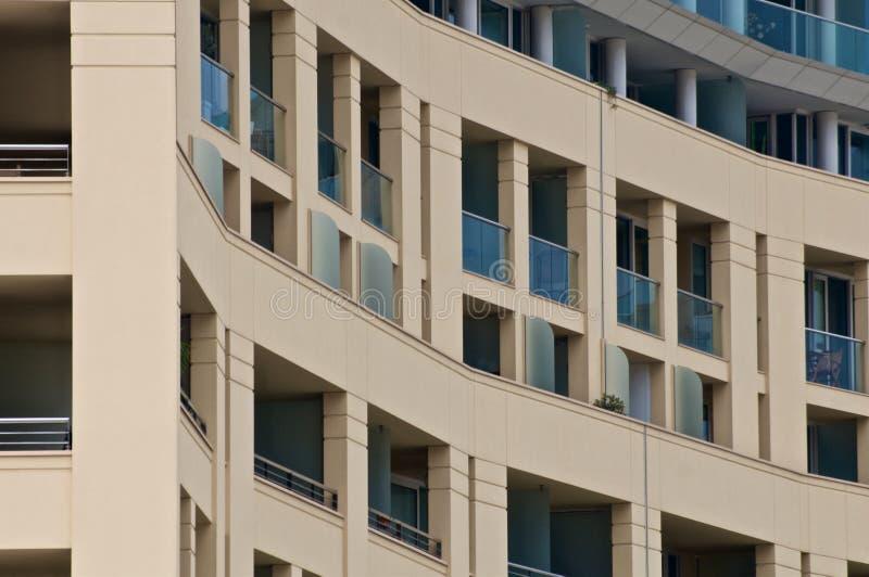 Balcons dans une rangée photographie stock