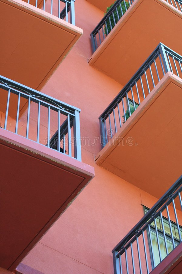 Balcons verticaux photographie stock