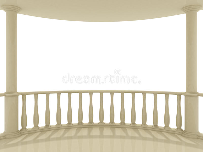 Balcony. On a white background vector illustration