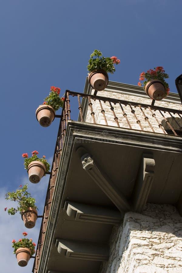 Download Balcony stock image. Image of flower, geranium, latín - 24932383