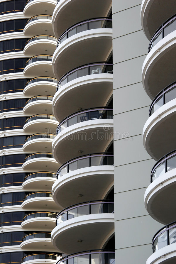 Balcony. Modern apartment building with a lot of balconies royalty free stock image