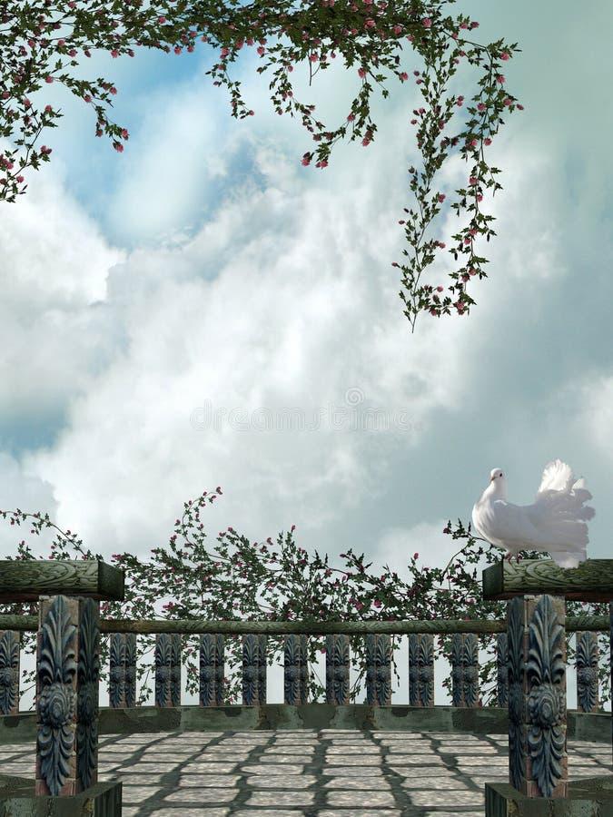 Download Balcony stock image. Image of dove, light, king, angel - 6940849