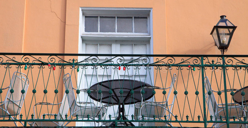 Download Balcony stock photo. Image of rail, lamp, pastel, outside - 7877494