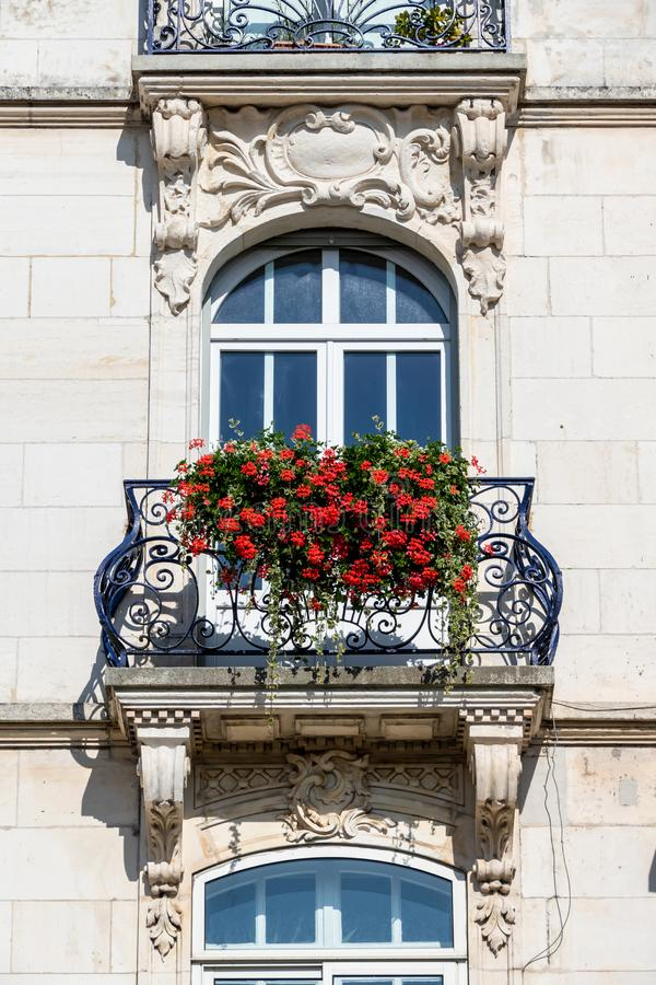 Balcony in Belfort, France. An image of a balcony in Belfort, France stock photo