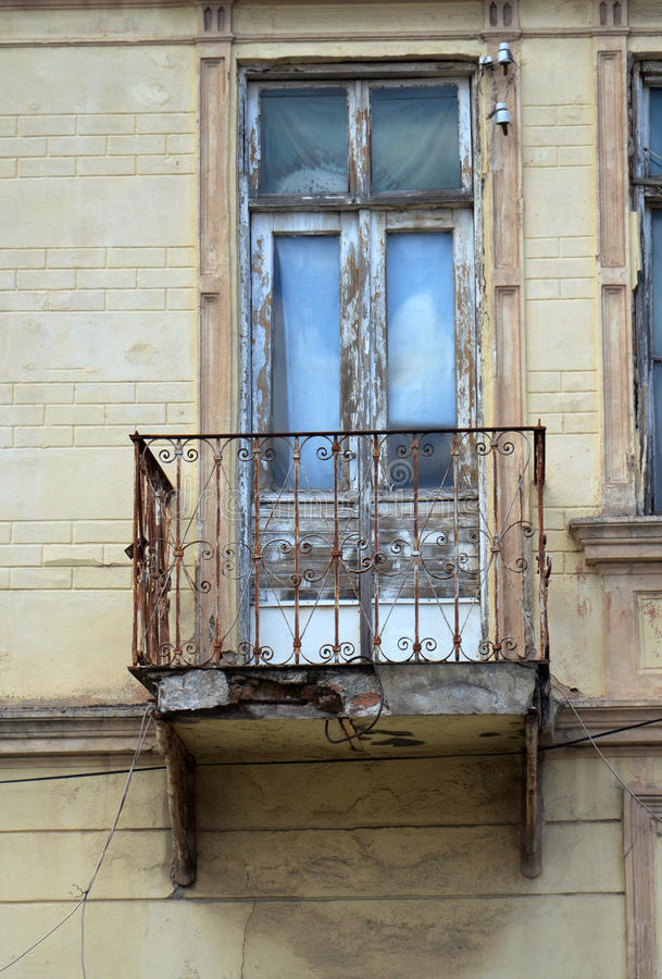 Balcony in Bitola,Macedonia. Picture of a Balcony in Bitola,Macedonia royalty free stock photo