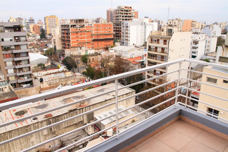 Balcony in Buenos Aires stock image