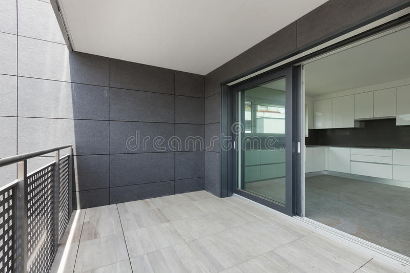 Download Balcony of a building stock photo. Image of stone, light - 75846014