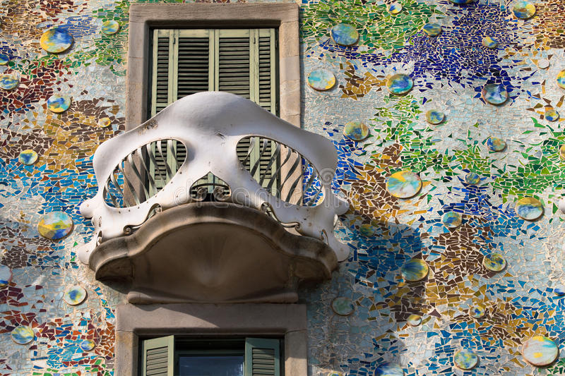Balcony of the Casa Batllo royalty free stock image