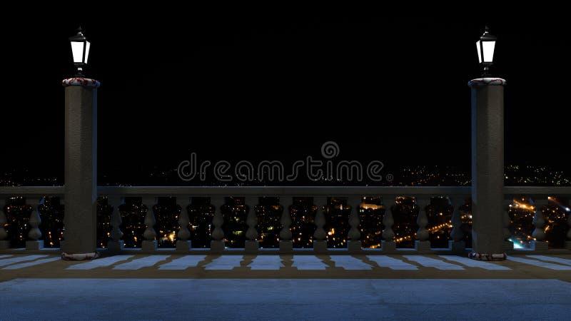 Balcony fantasy vector illustration