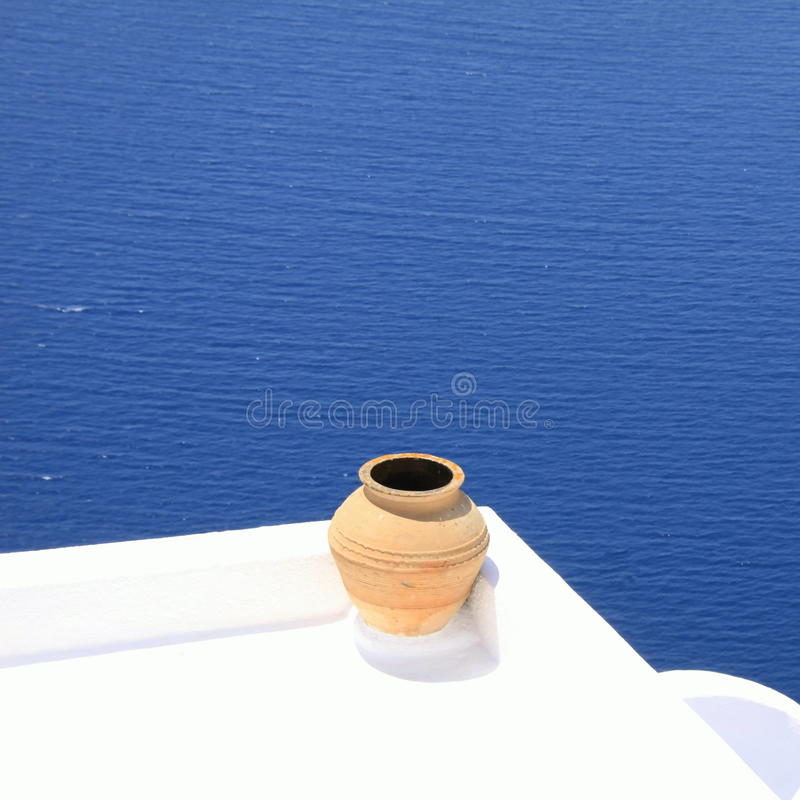 Download Balcony In Front Of The Sea To Santorin Stock Image - Image: 20549475