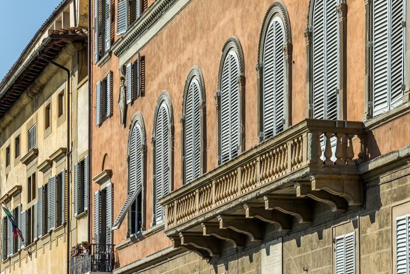 Balcony of Italian House stock image