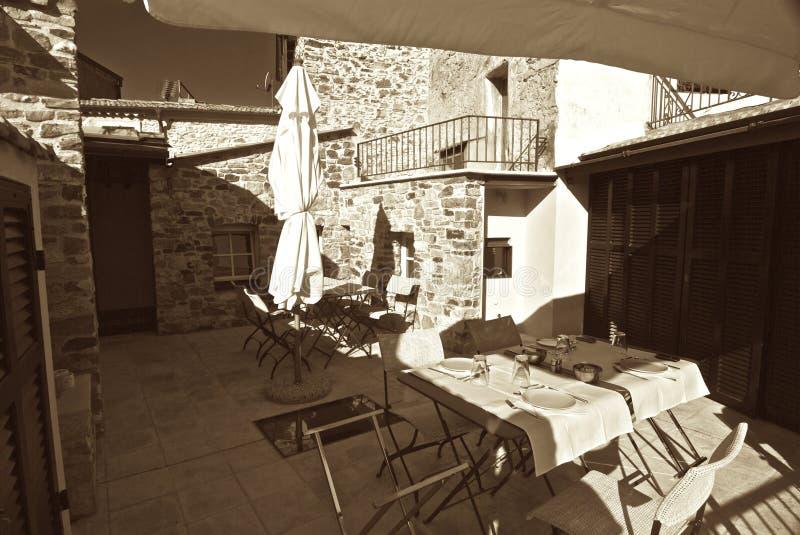 Balcony. Beautiful balcony in the ligurian territory royalty free stock image