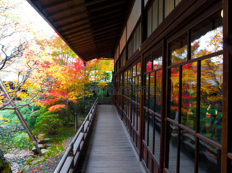 Balcony And Beautiful Garden In Kyoto, Japan Stock Image