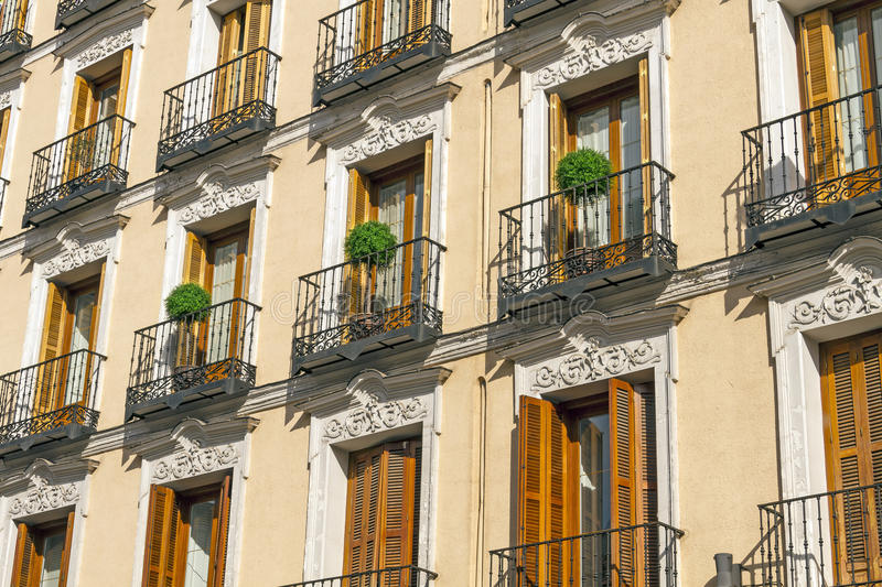 Balcony Madrid stock photography