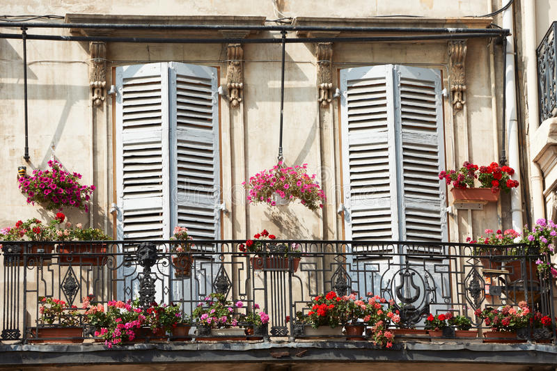 Download Balcony in Marseille stock photo. Image of mediterranean - 22849534