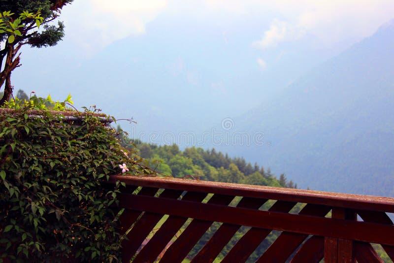 Mountain horizont. Balcony mountain horizont royalty free stock images