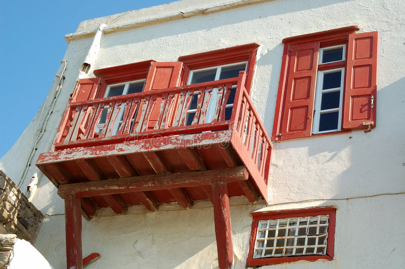 balcony old στοκ φωτογραφία