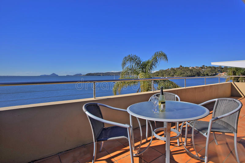 Download Balcony Overlooking Water Stock Photography - Image: 9862182