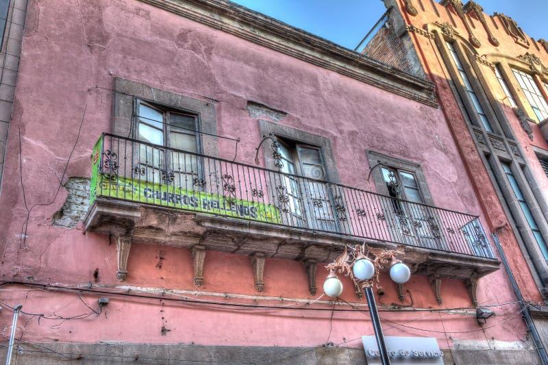 Balcony of San Luis Potosi, Mexico. Old balcony that is slightly restored in San Luis Potosi, Mexico stock photo