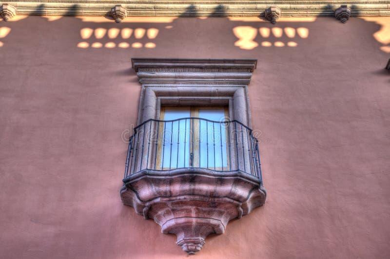 Balcony of San Luis Potosi, Mexico. Old balcony that is slightly restored in San Luis Potosi, Mexico royalty free stock photos