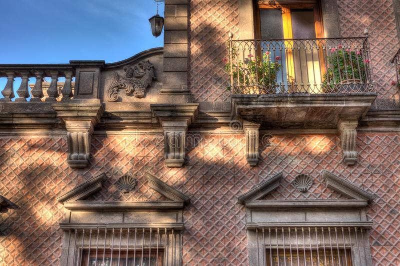 Balcony of San Luis Potosi, Mexico. Old balcony that is slightly restored in San Luis Potosi, Mexico royalty free stock image