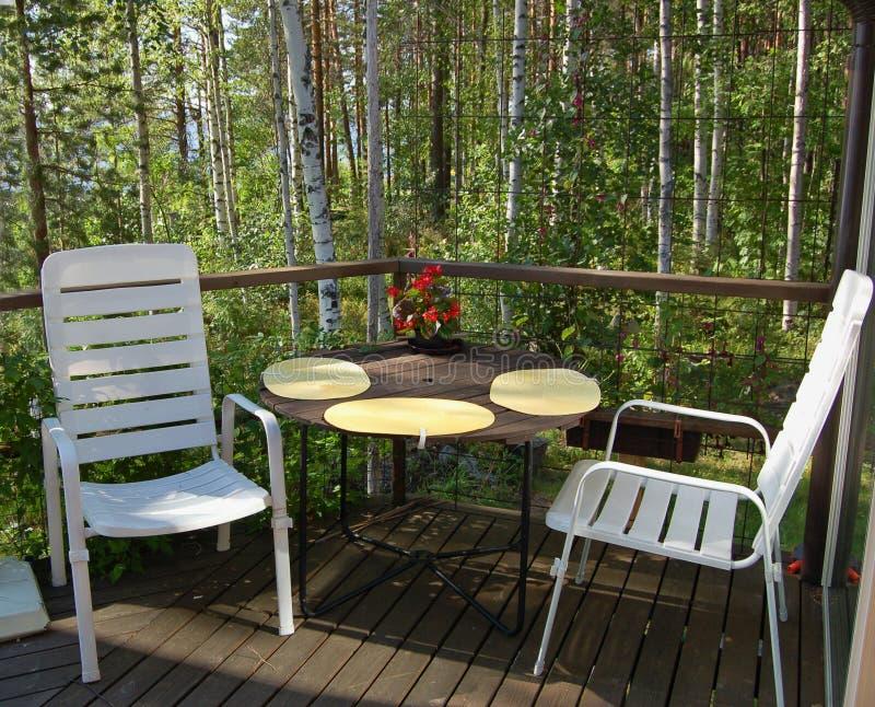 Balcony seats royalty free stock photography