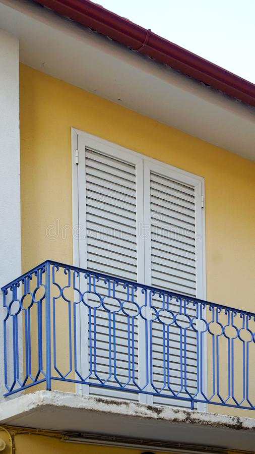 Download Balcony and shutters stock image. Image of accomodation - 99775367