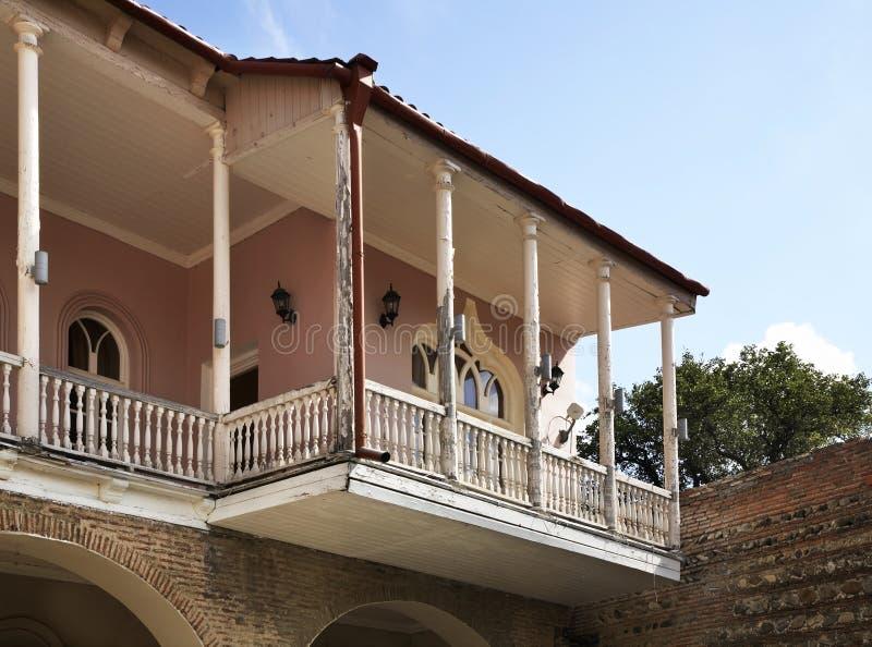 Balcony in Sighnaghi. Kakheti. Georgia.  royalty free stock image