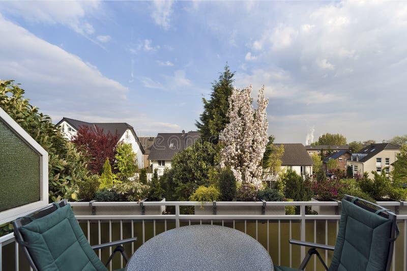 Balcony In The Spring Stock Image