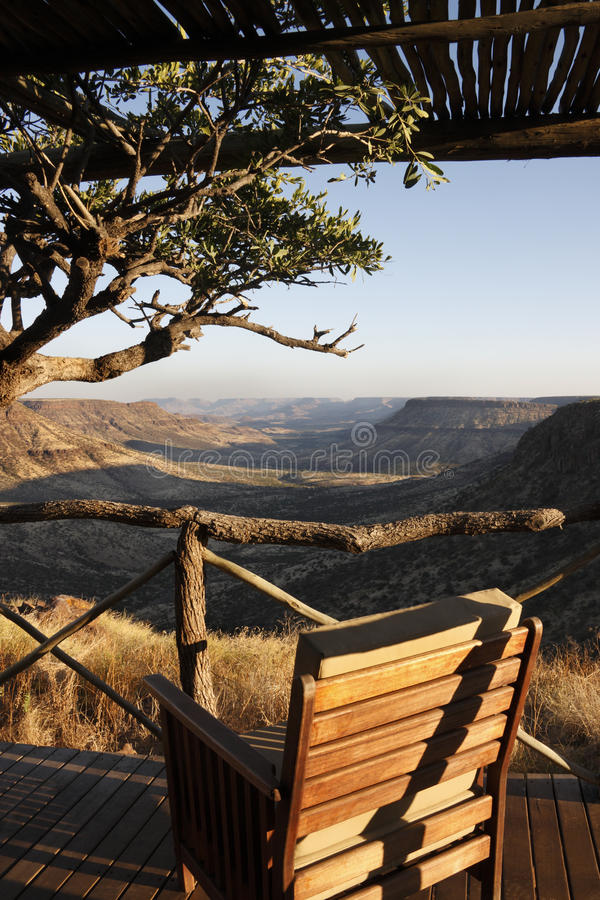Balcony with a view - Namibia stock images