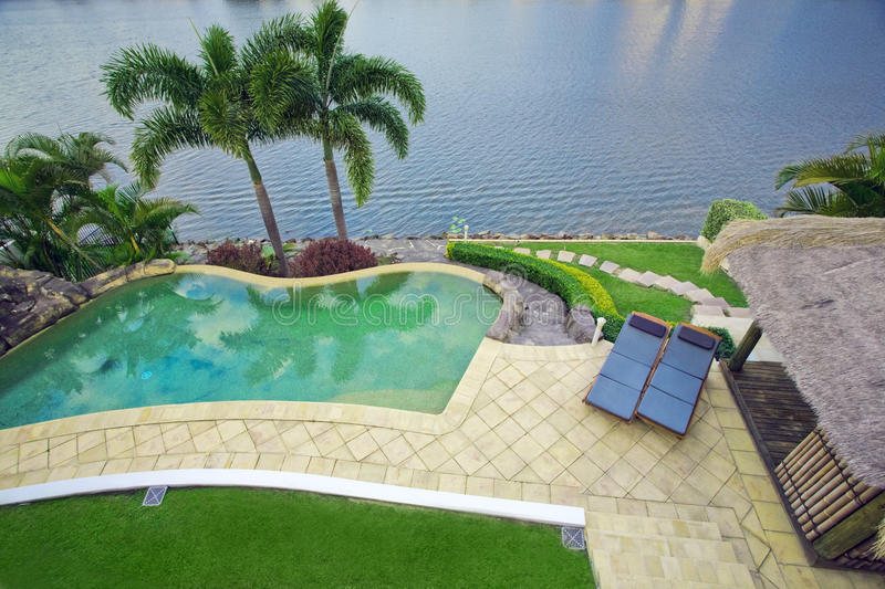 Download Balcony Views From Waterfront Mansion Stock Image - Image: 12320183