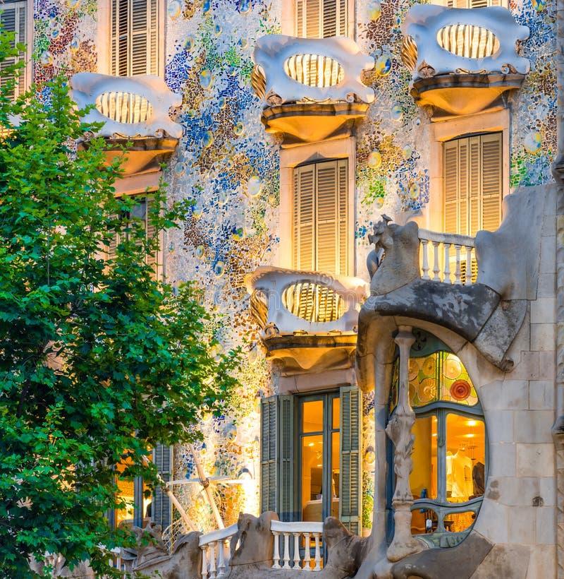 Balconys and Windows of Casa Batllo stock photography