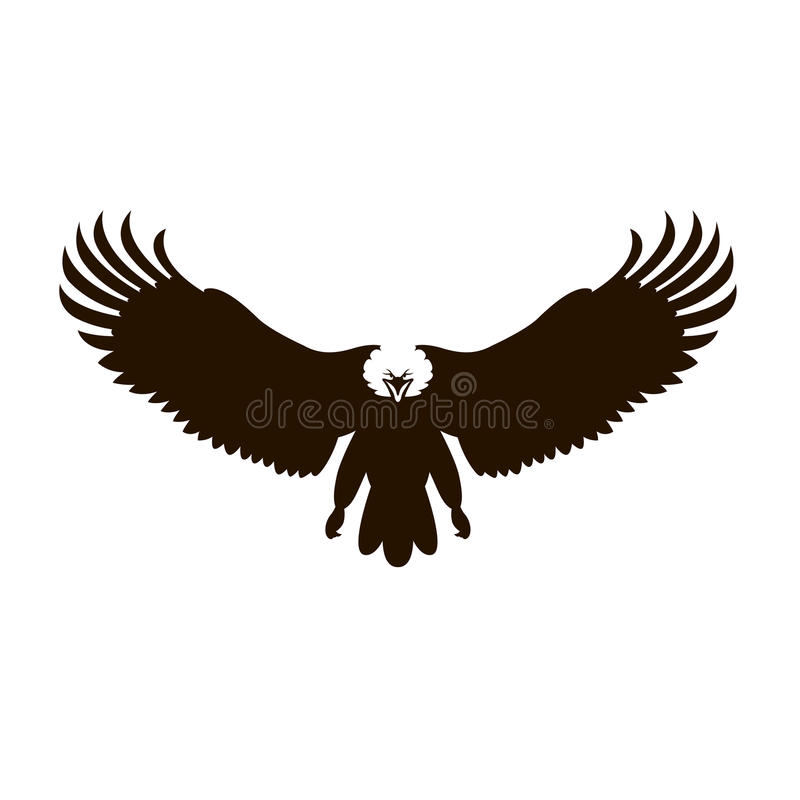 bald eagle vector illustration black silhouette stock vector rh dreamstime com bald eagle vector art free bald eagle vector free download