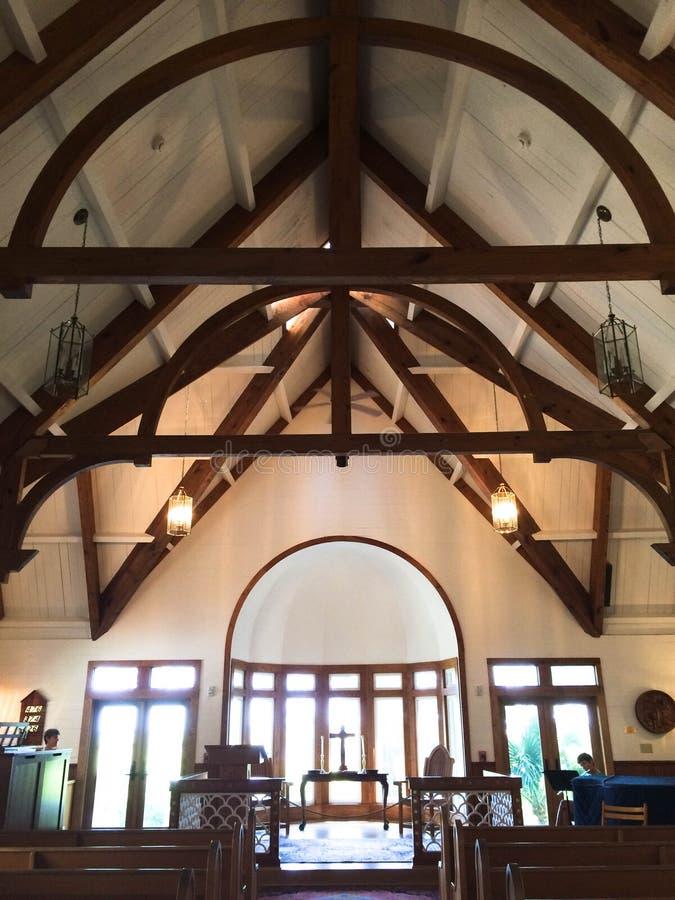 Bald Head Island Chapel with Cross stock image