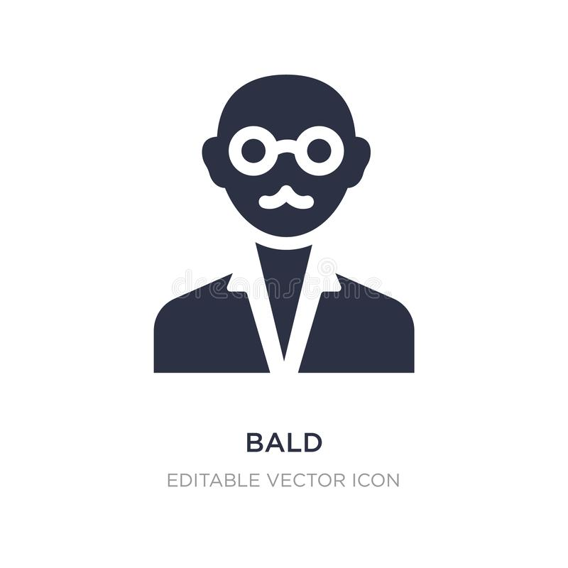 bald icon on white background. Simple element illustration from Education concept royalty free illustration