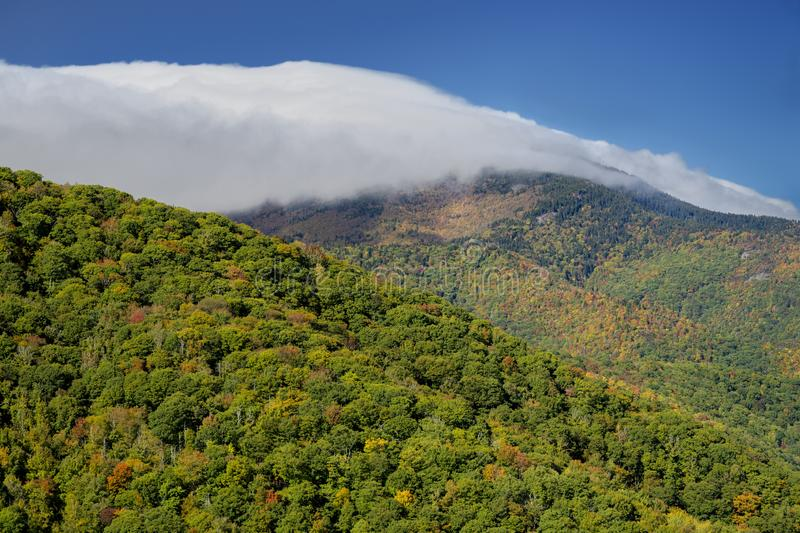 Bald Known su Blue Ridge Parkway in North Carolina, Stati Uniti immagini stock