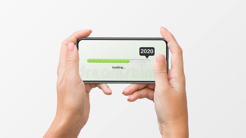 2020 bald kommend Konzept stockfoto